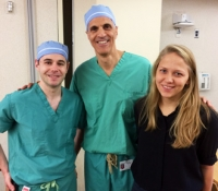 Dr Peter Morgenstern, Dr. Mark Souweidane, and MD/PhD student Iryna Ivasyk