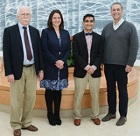 Left to right: Kenneth Perrine, PhD, ABPP-CN, Amanda Sacks-Zimmerman, PhD, ABPP-CN, Nitin Sethi, MD, and Barry Kosofsky, MD, PhD