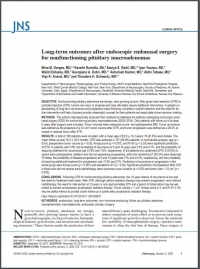 Long-term outcomes after endoscopic endonasal surgery for nonfunctioning pituitary macroadenomas