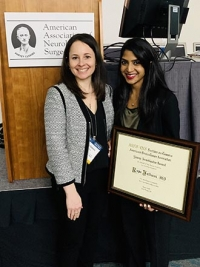 Dr. Rupa Juthani with Dr. Heather Calderone, Director of Research and Grants at the American Brain Tumor Association