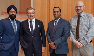 Dr. Singh, Dr. Hartl, Dr. Mehta, and Dr. Weaver lead the Weill Cornell Medicine Center for Comprehensive Spine Care