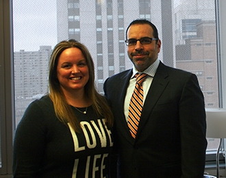 Allyson Tlacoxolal and Dr. Athos Patsalides