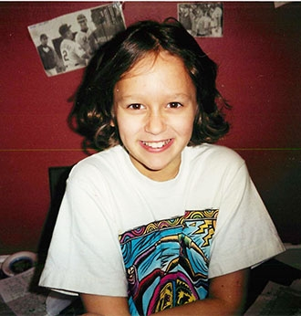 Emily Louick at age 11