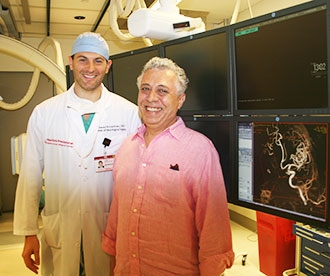 Dr. Jared Knopman and his patient Alain Suissa