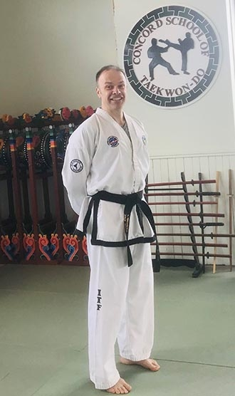 Keith in his dobok
