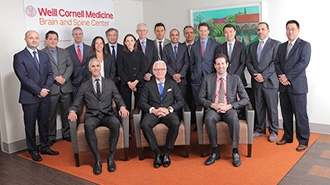 The neurosurgical team at the Weill Cornell Brain and Spine Center