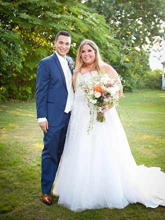 Nicole Scherer with her husband