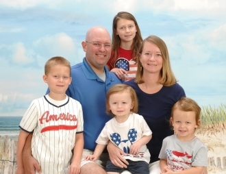 Shannon Johnson with her family.