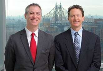 Dr. Jeffrey Greenfield (left) and Dr. Theodore Schwartz (right)
