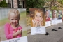 Some of the children honored at the Bronxville Road Race
