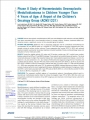 Phase II Study of Nonmetastatic Desmoplastic Medulloblastoma in Children Younger Than 4 Years of Age: A Report of the Children's Oncology Group