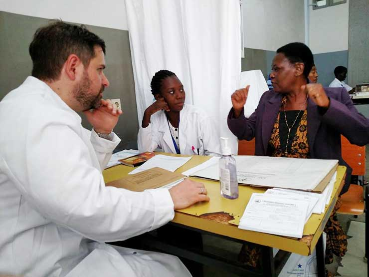 A patient interview, Tanzania