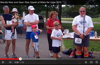 Brenda Ries and Sean Ries Speak at Miles for Hope 2013