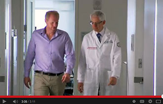 Dr. Eric Elowitz and Noah Emmerich discuss the microdiscectomy that relieved the actor's pain